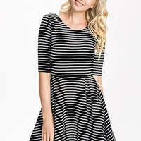 Suki Winter Stripe Roundneck Dress