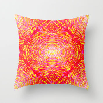 Fire Eye Throw Pillow by 319media