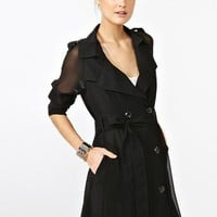 Chiffon Trench Coat