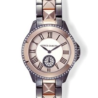 Vince Camuto Ceramic Pyramid Link Watch