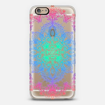 Rainbow Doodle Lace Mandala - transparent iPhone 6 case by Micklyn Le Feuvre | Casetify