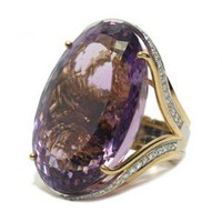 65 Carat Oval Amethyst Ring