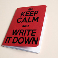 Handmade notebook &quot;Don&#x27;t panic&quot;