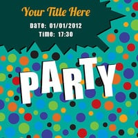 Fun Party Invitation - Card Design - Printable File