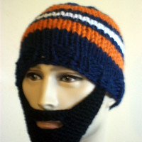 Bearded Beanie Denver Broncos Team Color Knit Hat