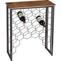 Sterling Industries Wood And Metal Small Console Wine Rack