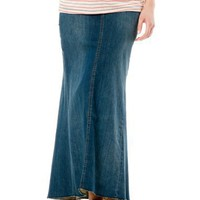 A Pea in the Pod: Blank NYC Pull On Style Full Length 5 Pocket Maternity Skirt