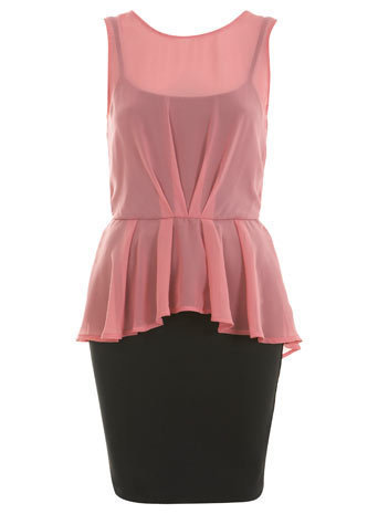 Peplum Blouson Dress - New In - Miss Selfridge US