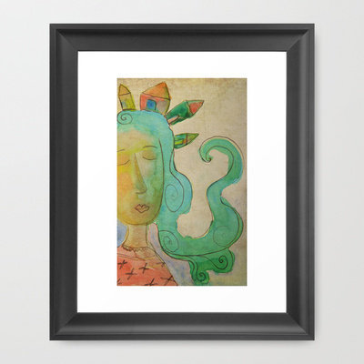 Dreaming Framed Art Print by Carina Povarchik | Society6