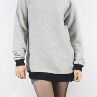 SWEATSHIRT Rock Design Shirt Fashion Soft Thick Gray Shirt Women Shirt Men Shirt Unisex Shirt Sweater Shirt Long Sleeve T-Shirt Size M