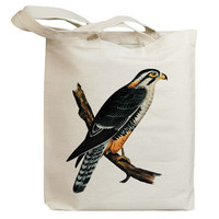 Retro Hawk 01 Eco Friendly Canvas Tote Bag (id5052)