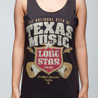 Lone Star Beer Shirt Drink Texas Music Rock Women Tank Top Black Shirts Tunic Top Vest Singlet Women T-Shirt Size L