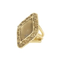 House of Harlow 1960 Jewelry Sea Stones Cocktail Ring