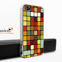 silvery  case for iphone in case Iphone 4s case  fashion multi-colour check  image design iphone 4 case iphone 4s case iphone 4 cover