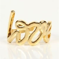 Gold Love Signature Ring