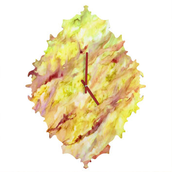 Rosie Brown Marble Veins Baroque Clock