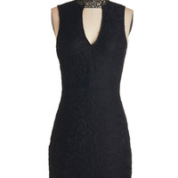 Mid-length Sleeveless Sheath All About Drama Dress