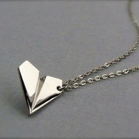 PAPER AIRPLANE Necklace-Unisex
