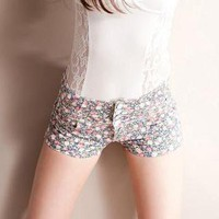YESSTYLE: SPICY HOLIC- Floral Print High-Waist Shorts - Free International Shipping on orders over $150