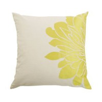 Amazon.com: Blissliving Home Gemini Pillow, Citron, 18 by 18 Inches: Home & Garden