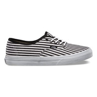 Vans Hickory Stripes Authentic Lo Pro (black)