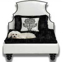 Beverly Hills Black and White Bed - Dog Beds - BlingBlingPuppy.com