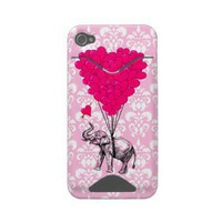 pink elephant and balloons id iphone 4 cover from Zazzle.com