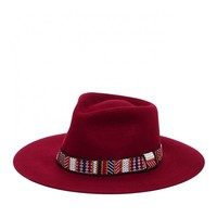 Sole Society Wide Brim Fedora With Embroidered Band