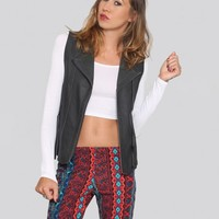 Smoke Out Leather Vest