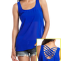 Lattice Back Chiffon Tank