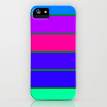 Cool Tone Stripes iPhone & iPod Case by 2sweet4words Designs | Society6
