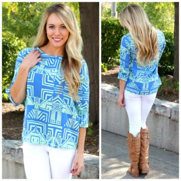 Upper Stratosphere Blouse