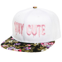 The Floral Snapback in White and Multi