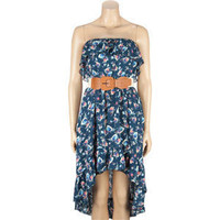 FULL TILT Belted Hi Low Tube Dress 201522210 | Dresses | Tillys.com