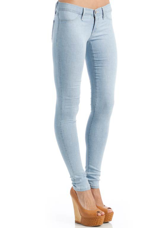 denim-jeggings SKYBLUE - GoJane.com