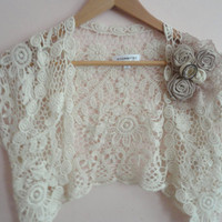 Bohemian Lace Bolero with Shabby Chic Flowers