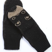 Black Bear Mittens - Handmade in the USA - Matching Scarf Available!