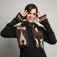 Basset Hound Scarf - Matching Handwarmers Available!