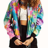 watercolor-printed-jacket PINKBLUE - GoJane.com