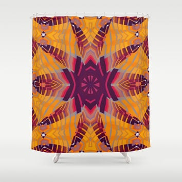 Aztec Spider Shower Curtain by Webgrrl