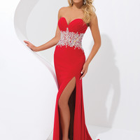 Sweetheart Neckline Beaded Waistline Formal Prom Dress By Tony Bowls 114709