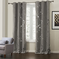 [USD $ 99.99] (Two Panels) Modern Beautiful Galaxy Hollow Out Energy Saving Curtain