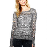 Poppy Pointelle Tunic Sweater