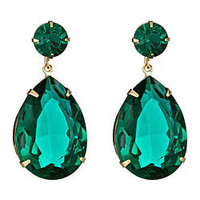 Roberta Chiarella Green Crystal Teardrop Earrings - Max and Chloe