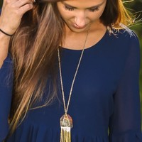 Turn Down Necklace-Natural