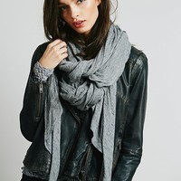Free People Womens Oversized Solid Fine Gauge Scarf - Heather