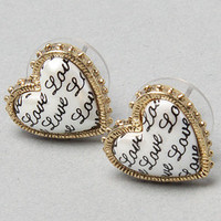 The Pearl Heart Stud Earrings by Betsey Johnson | Karmaloop.com - Global Concrete Culture
