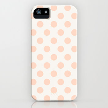 Vintage Dot Pale Peach iPhone & iPod Case by Pattern Plus