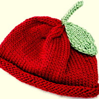 My little Cherry! hand knitted Baby hat