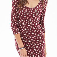 Spotted Rose Bodycon Dress
